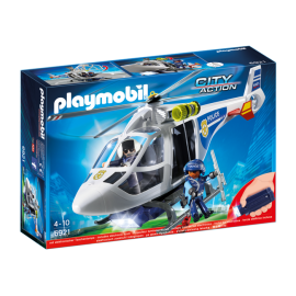 6921 City Action Police Helicopter with LED Searchlight ซิตี้แอคชั่น เฮลิคอปเตอร์ตำรวจ+ไฟทาง